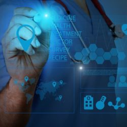 Demystifying Healthcare SEO | Webinar | Vanguard Communications | Photo of digital doctor