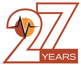 Vanguard 27th Anniversary Logo | Vanguard Communications | Denver, CO | San Jose, CA