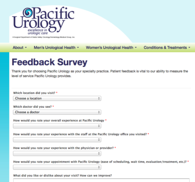 Our patient satisfaction survey that helps with online reputation management | Vanguard Communications | Denver