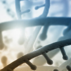 DNA helix representing the need for physicians to educate patients about genetic therapies in reproductive medicine | Vanguard Communications | Denver