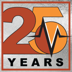 25th anniversary logo | Vanguard Communications | Denver, CO