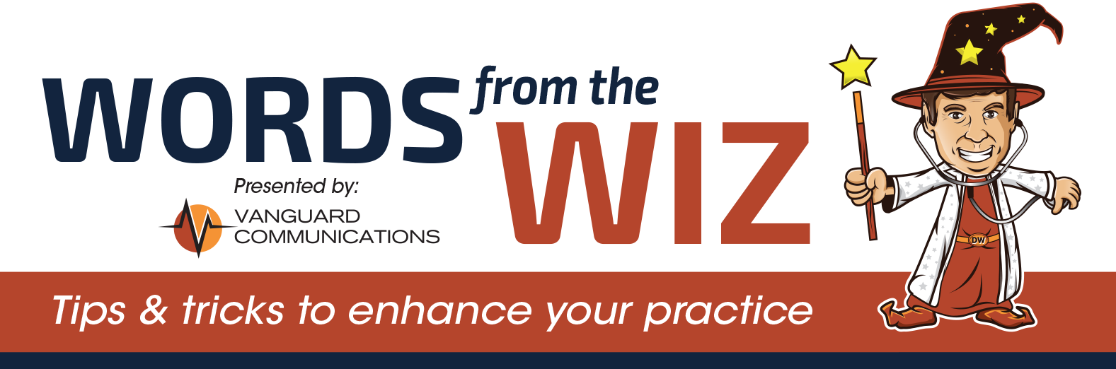 Words from the Wiz Logo | Vanguard Communications | Denver, CO | San Jose, CA