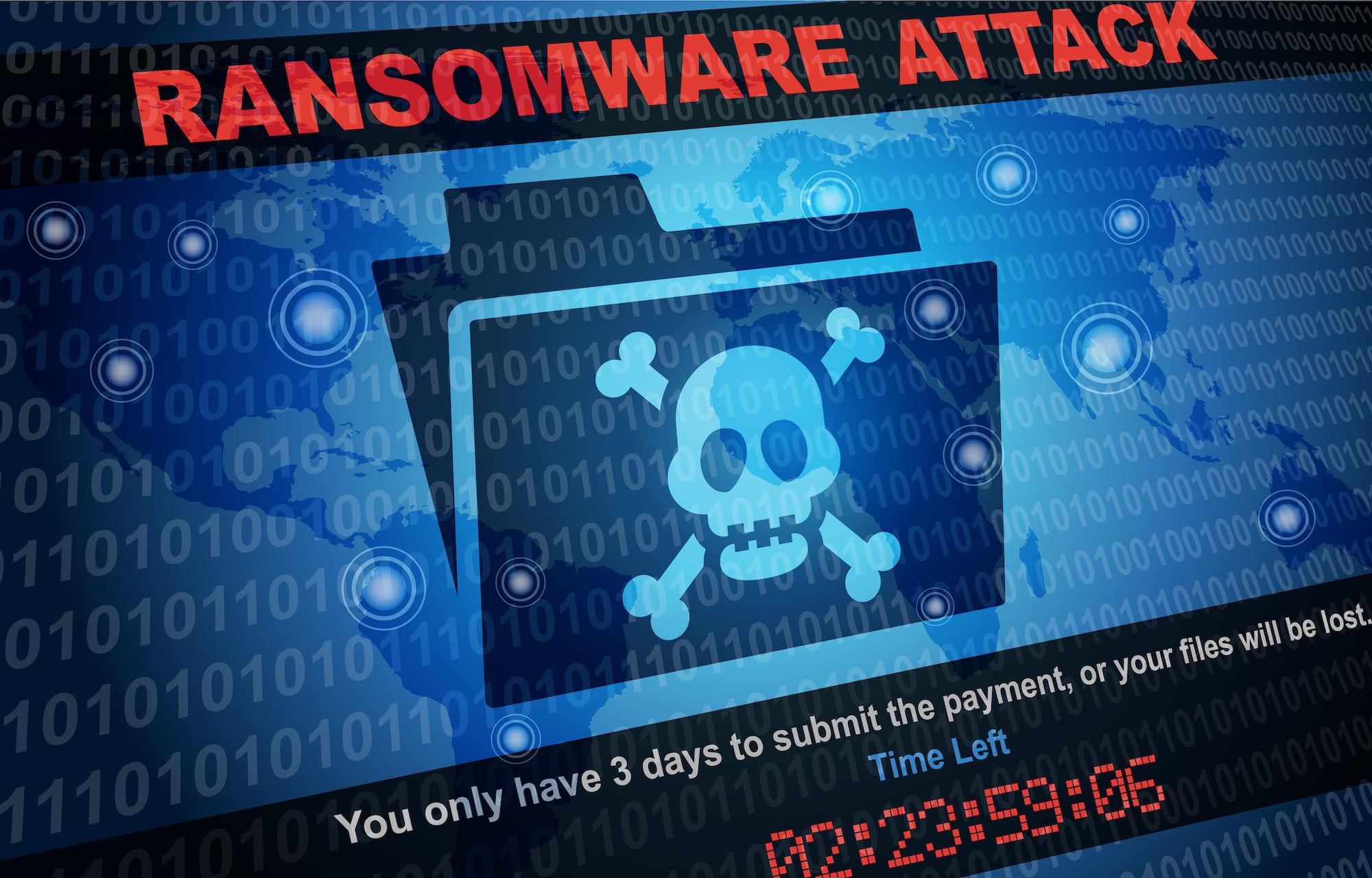 Photo of ransomware of PHI security on computer screen | Vanguard Communications | Denver, CO | San Jose, CA | Jacksonville, FL