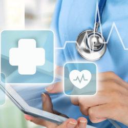 doctor's website | Vanguard Communications | Doctor with ipad