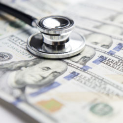 Economic Realities of a Medical Practice   Practice Pain Relievers   Vanguard Communications   Stethoscope and money
