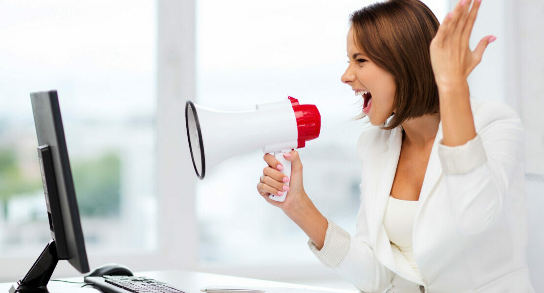 Physician Blog | Vanguard Communications | Woman with megaphone